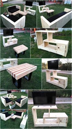 In need of a better and unique furniture ideas for your living area? Here we go providing you an idea to create a package containing masterpieces by recycling wood pallets. Awesome idea for pallets wood made living room furniture is being presented here that fill your room with natural feel and classy look.