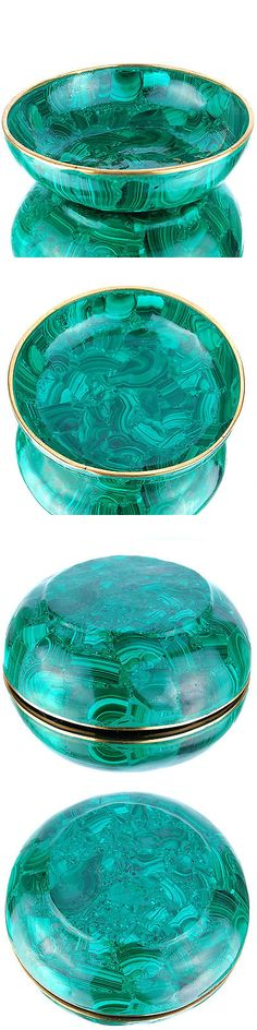 Malachite 10236: 1584 Cts Huge Unique Natural Malachite Bowl Finest Quality Collectors Gemstone BUY IT NOW ONLY: $291.27