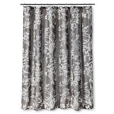 Threshold Shower Curtain Gray Floral : Target