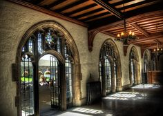 Hart House at University of Toronto...entrance to patio & ceremony location