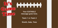 Game Time Email Template
