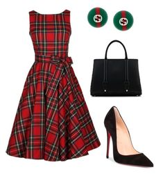 """""""Untitled #526"""" by mchlap on Polyvore featuring Christian Louboutin, La Perla and Gucci"""