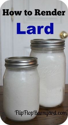 How to Render Lard. Simple steps to render lard at home. Rendering lard in a crock pot. Rendering Lard, Canned Food Storage, Home Canning, Canning 101, Preserving Food, Canning Recipes, Diy Food, Food Crafts, The Ranch