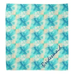 Teal Abstract Design Bandana