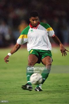 Habib Beye of Senegal passes the ball during the FIFA World Cup 2002 Qualifying match against Egypt played at the National Stadium in Cairo Egypt...