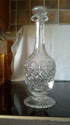 Stunning cut glass decanter early 20th century 32cms tall | eBay Candle Sticks, Wine Decanter, Cut Glass, Candles, Gold, Ebay, Candlestick Holders, Wine Carafe, Candlesticks