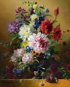 View Still life of flowers by Georgius Jacobus Johannes van Os on artnet. Browse upcoming and past auction lots by Georgius Jacobus Johannes van Os. Classic Paintings, Old Paintings, Art Floral, Still Life Flowers, 5d Diamond Painting, Old Master, Diy Painting, Flower Art, Watercolor Art