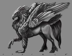 hipogrifo é uma criatura lendária, supostamente o fruto da união de um grifo e um égua. O poema Orlando Furioso (1516) de Ludovico Ariosto contém uma descrição da criatura (canto IV):