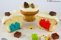 Double LEGO cupcakes