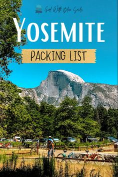 Yosemite Packing List: Essentials and gear for any time of year. Browse top items and tips for hiking, rafting, camping, and biking. 🍃 #yosemitenationalpark #traveltips #camping #campvibes #backpacking #roadtrip #bucketlist #yosemitefalls #travel #wanderlust #travelblogger Packing Tips For Vacation, Packing Lists, Vacation Trips, Beginner Photography, Photography Tips, Travel Photography, National Parks Usa, Yosemite National Park, Visit California