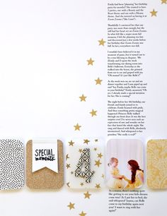 I love the white space and the stars running from the focal point of the pics to the journalling, drawing your eye up to read.  #projectlife #scrapbook