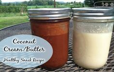 Delicious Coconut Cream Butter a healthy and easy snack kids love it Coconut Cream Concentrate Recipe Creamed Butter Recipe, Coconut Butter Recipes, Recipes With Coconut Cream, Milk Recipes, Cream Recipes, Real Food Recipes, Snack Recipes, Peanut Butter, Coconut Oil