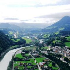 Tauern Bicycle Route provides the ride of your life crossing some of the most dramatic scenery Austria has to offer including Salzburg. This is the Salzach river valley approaching Werfen. #biketouring, #taurern #austria