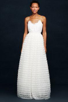 J.Crew Wedding Dresses - My dream dress! Spagetti straps and simple white