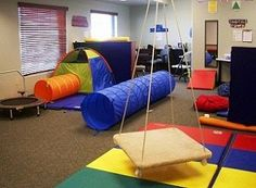 Kids play free at occupational therapy gym outdoor play for Fitness 19 kids room