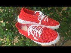 2 Numara Makrome İp İle Örgü Spor Ayakkabı Yapımı 1. Bölüm - YouTube Ciabatta, Keds, Baby Shoes, Sneakers, Clothes, Inspiration, Fashion, Slippers, Shoes