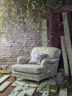 liberty fabrics wallace secret garden gauze scoured linen upholstered armchair