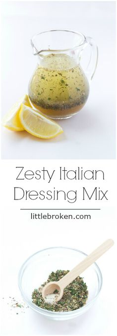 Homemade Zesty Italian Dressing Mix - with ton of flavor and similar to one at the store Zesty Italian Dressing Recipe, Italian Dressing Mix, Homemade Dressing, Salad Dressing Recipes, Salad Recipes, Salad Dressings, Cooking Recipes, Healthy Recipes, Cooking Ideas