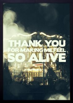 Quadro Decorativo Frase Thank You For Making Me Feel So Alive 54x74cm