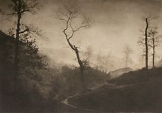 Dämmerung - by Gustave Marissiaux, 1900 Dark Photography, Artistic Photography, Black And White Photography, Landscape Photography, Photo D Art, Photography Illustration, Monochrom, Vintage Photographs, Wild Nature