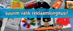 Reklaamkingitused - Suurim valik tooteid (helkurid, lipud, kruusid, õhupallid, pastakad jpm)