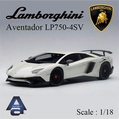 Lamborghini Aventador LP 750-4 SV 1/18 AUTO art pearl white 74555 #autoart
