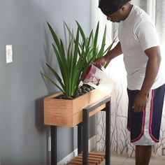 Your modern planter is now ready for use. Be sure to select the right type of plants for the setting where the planter will be placed.