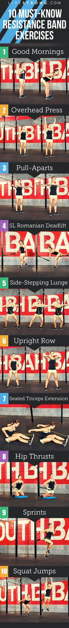 cool 10 Resistance Band Exercises to Tone and Tighten | LIVESTRONG.COM
