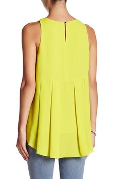 Image of Vince Camuto Back Pleat Tank (Petite)