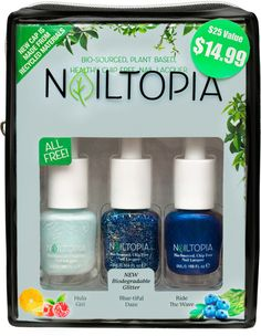 Nailtopia Blue-tiful Daze Holiday Kit Healthy Chips, Birthday Treats, Biodegradable Products, Bath And Body, Nails, Nail Polishes, Plant Based, Fragrance, Skin Care