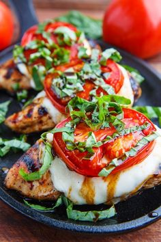 #summer #grilling How to make this caprese balsamic grilled chicken. Caprese Balsamic Grilled Chicken