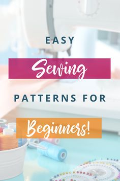 These are the best, free and EASY sewing patterns for sewing beginners that I could find - and are perfect if you'd like to start sewing your own clothes! Sew Your Own Clothes, Learn To Sew, How To Make, Easy Sewing Patterns, Learning, Free, Dressmaking, Studying, Teaching