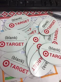 Target requested some blank name signs :(  Never assume printers understand the design fully, call them and make sure they understand the project.