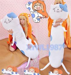 Anime Himouto! Umaru-chan Cat Dakimakura Hugging Body Pillow Cushion Cute Doll