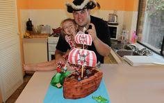 PIRATE SHIP CAKE (How To)