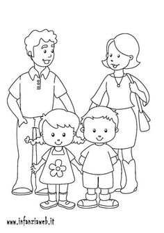 Paper House with Opening Doors Camping Coloring Pages, Family Coloring Pages, School Coloring Pages, Bible Coloring Pages, Coloring Books, Preschool Family Theme, Preschool Writing, Family Crafts, Preschool Worksheets