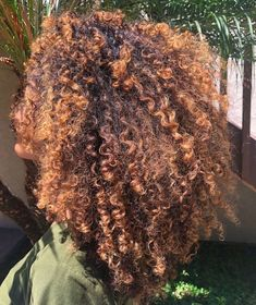 Dyed Curly Hair, Dyed Natural Hair, Natural Hair Styles, Natural Hair Inspiration, Curled Hairstyles, Hair Highlights, Hair Looks, Hair Color, Hair Beauty