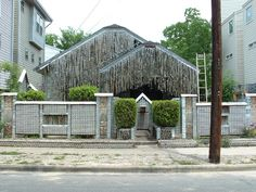 Beer Can House. Houston, TX.  I do love folk art.  (some may call it trash art!)