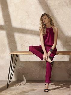 1.2.3 Paris - Collection Printemps Été 2014 -COMBINAISON SAXO #123paris #lookbook #mode #fashion #printemps #été #spring #summer #framboise #raspberry #jumpsuit #chic