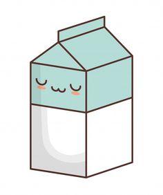 Imagem de ícone kawaii caixa de leite Ve... | Premium Vector #Freepik #vector #carater #desenho-animado #comico #bonitinho Bebida Boba, Nurse Aesthetic, Cute Food Drawings, Doodles, Milk, Discord, Bullet, Pasta, Tattoos