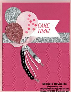 Party Pants Pink & Silver Balloons by Michelerey - Cards and Paper Crafts at Splitcoaststampers Simple Birthday Cards, Birthday Cards For Women, Handmade Birthday Cards, Up Balloons, Birthday Balloons, Washi Tape Cards, Stamping Up Cards, Pop Up Cards, Kids Cards