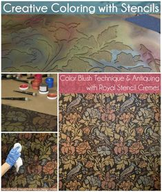Stencils beyond the basics! How to stencil a wall pattern stencil with layers of Royal Stencil Creme paints