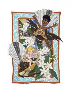 Piwakawaka Hoheria by Debbie Tipuna - Art Prints New Zealand Wall Art For Sale, Spring Collection, New Zealand, Jewelery, Fantasy, Art Prints, Artist, Jewlery, Art Impressions