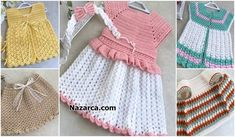 120 GRAM İPLE ROBALI PERİ ELBİSE | Nazarca.com Easy Knitting, Baby Knitting Patterns, Baby Outfits, Baby Items, Summer Dresses, Crochet, Fashion, Knitted Baby Clothes, Vest Coat
