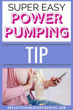 Power pumping is a popular way to increase milk supply. Use this super easy pumping tip to easily get a power pumping session in every day. Stopping Breastfeeding, Breastfeeding Problems, Breastfeeding Support, Breastfeeding And Pumping, How To Increase Breastmilk, Pumping Schedule, Exclusively Pumping, Lactation Consultant