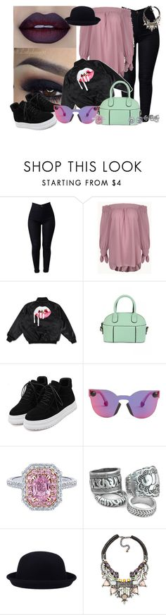 """Bowler hat Style again"" by mrs-brown-carter ❤ liked on Polyvore featuring Converse, WithChic, Christopher Kane, Nocturne and BERRICLE"