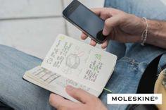 Carnet #Evernote Smart de #Moleskine. Remplissez ce livre d'idées et croquis, prenez les pages en photo via l'application Evernote sur smartphone, tablette, elles seront instantanément numérisées, dans le #cloud et synchronisées avec tous vos appareils, ordinateur, #note #notes #apps, web... via Evernote. Chaque carnet contient un abonnement gratuit de 3 mois à Evernote Premium.
