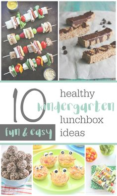 10 fun and easy ideas for a healthy kindergarten lunchbox. Nut free lunchbox ideas and recipes!