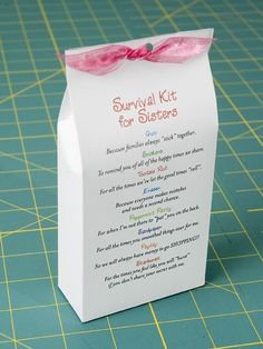 Adorable Sisters Gift Sister Survival Kit Kits Birthday