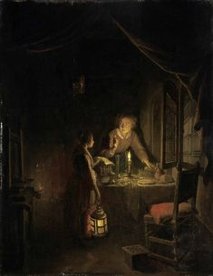 gerrit dou: woman tidying the supper table Gerrit Dou, Städel Museum, Mad Movies, Moonlight Painting, Dutch Painters, Open Window, Frankfurt, Rembrandt, Art History
